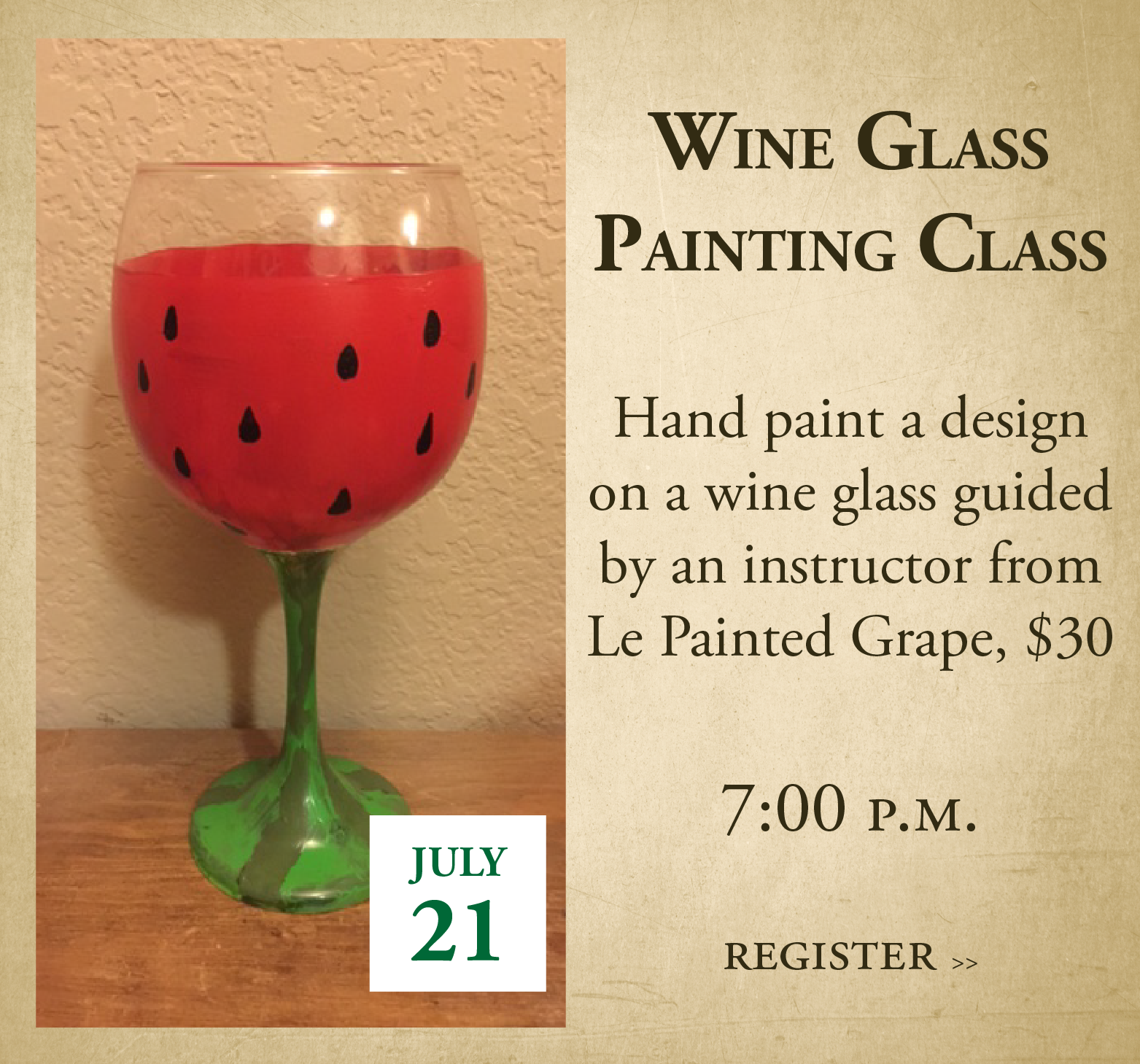 Image for wine glass painting event